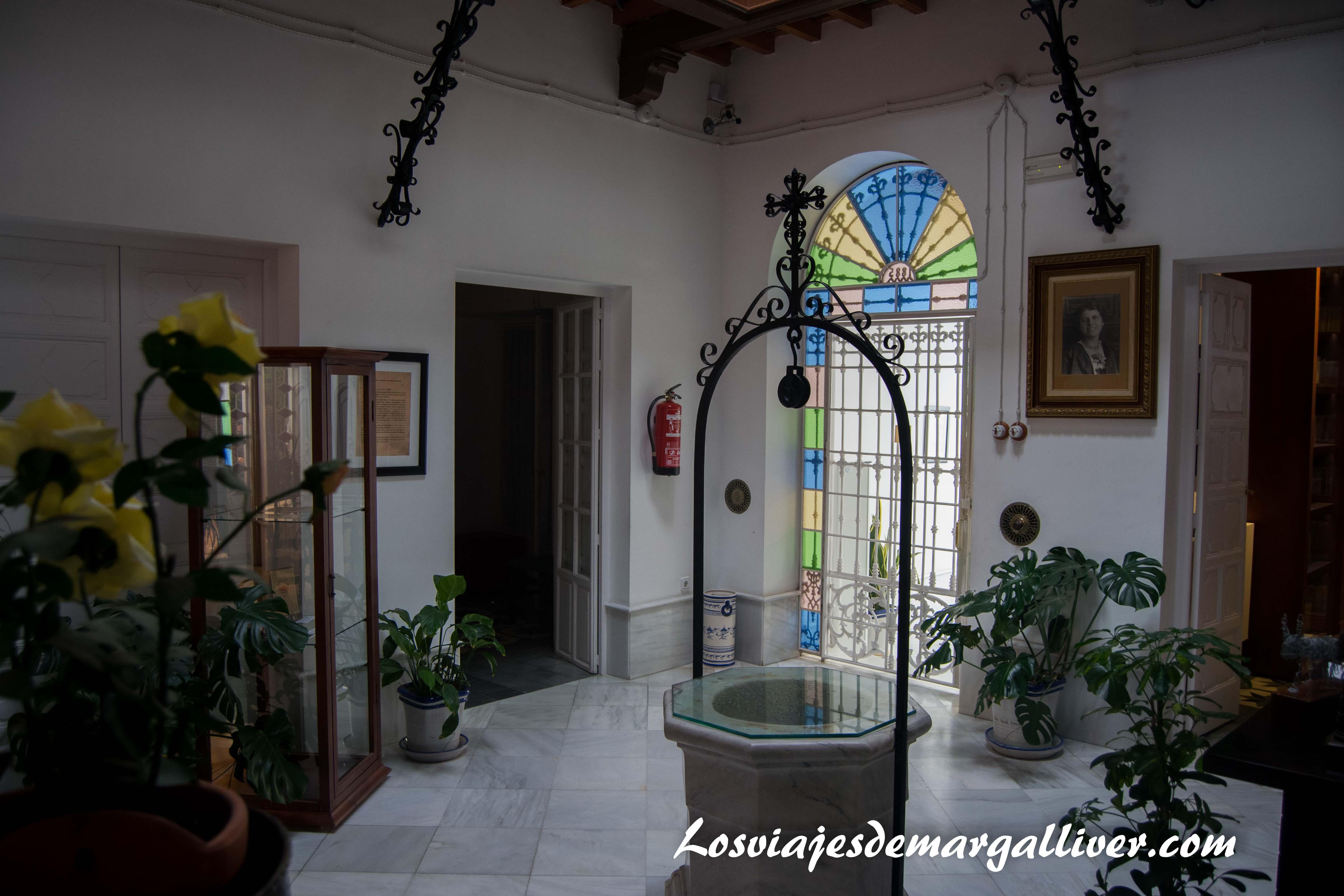 Patio de la casa museo J.R Jiménez - Zenobia en Moguer - Los viajes de margalliver